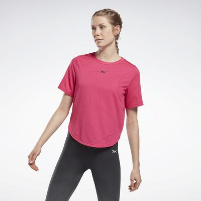 Reebok Women's United By Fitness Perforated T-Shirt in Pursuit Pink Size XL - Training Clothing