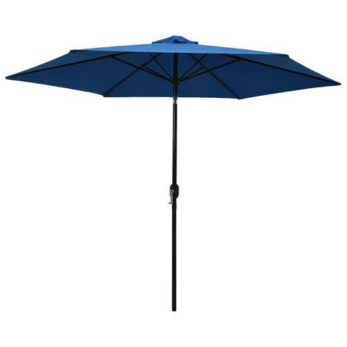 vidaXL Sonnenschirm mit Metall-Mast 300 cm Azurblau