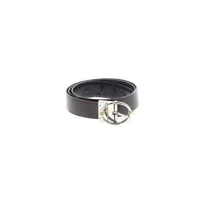 Anne Klein - Anne Klein Leather Belt: Brown Solid Accessories - Size Large