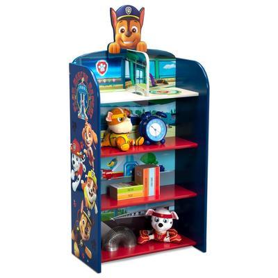 PAW Patrol Wooden Playhouse 4-Shelf Bookcase for Kids - Delta Children FL86842PW-1121
