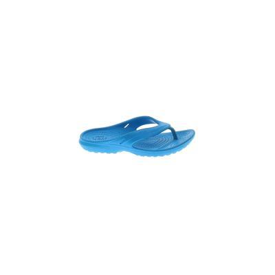 Crocs Flip Flops: Blue Solid Shoes - Size 11