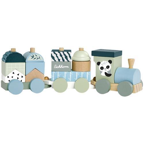 Eichhorn Spielzeug-Zug, aus Holz bunt Kinder Spielzeug-Zug Holzspielzeug