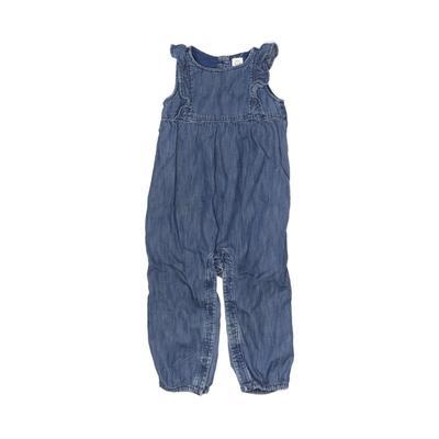 Baby Gap Jumpsuit: Blue Solid Skirts & Jumpsuits - Size 18-24 Month