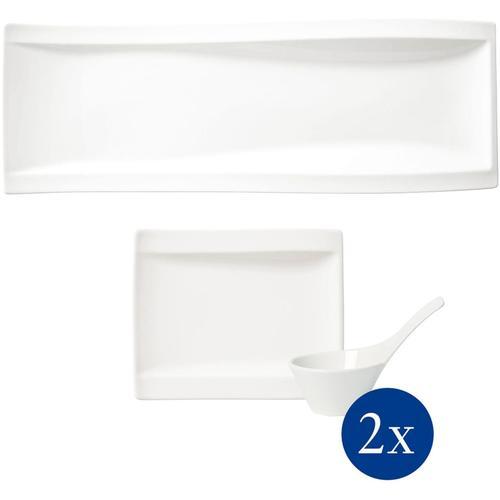 Villeroy & Boch Geschirr-Set NewWave Antipasti Set, (Set, 5 tlg.) weiß Geschirr-Sets Geschirr, Porzellan Tischaccessoires Haushaltswaren