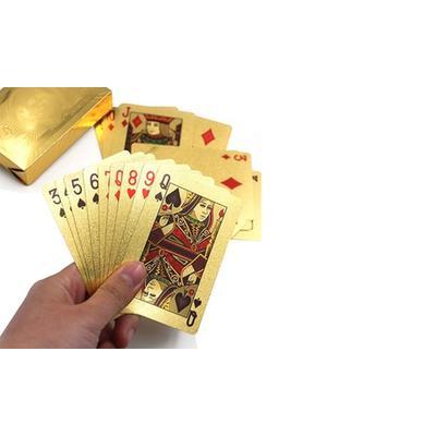 Spielkarten in Gold