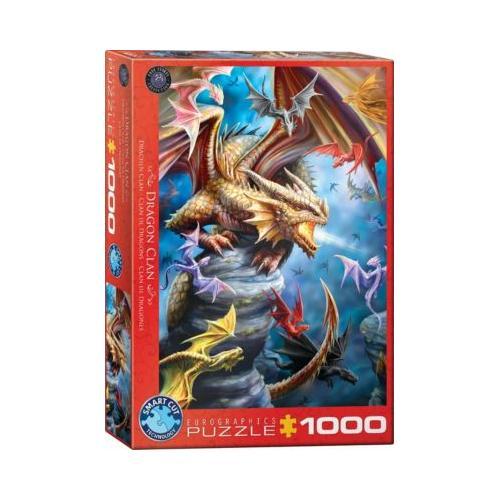 Puzzle 1000 Teile-Drachen Clan von Ann Stokes