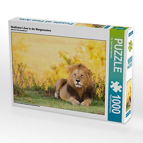 Stattlicher Löwe in der Morgensonne Foto-Puzzle Bild von Gerd-Uwe Neukamp Puzzle