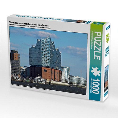 Elbphilharmonie Frontalansicht vom Wasser Foto-Puzzle Bild von Mirko Weigt Puzzle