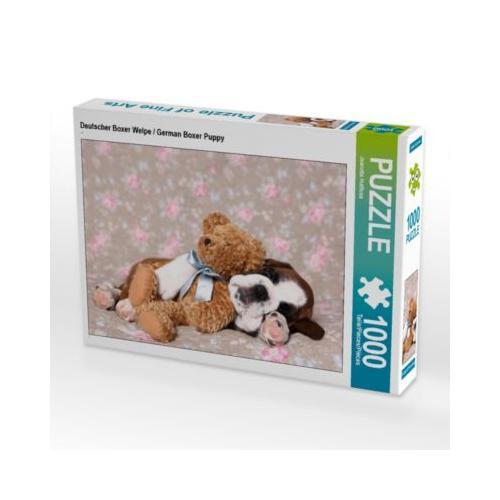 Deutscher Boxer Welpe / German Boxer Puppy Foto-Puzzle Bild von Jeanette Hutfluss Puzzle