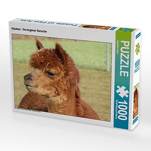 Alpakas - Verwegener Bursche Foto-Puzzle Bild von Angelika Keller Puzzle