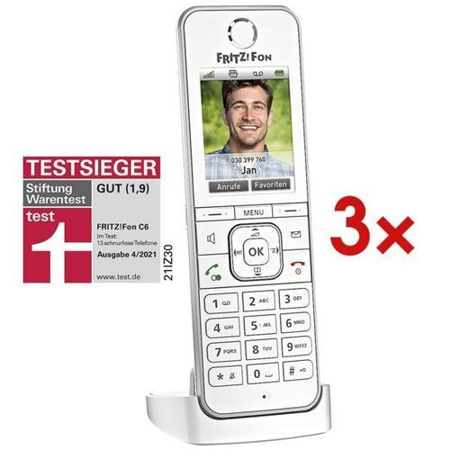 3x Schnurloses Telefon »FRITZ!Fon C6«, AVM