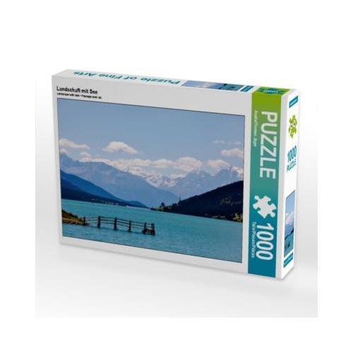 Landschaft mit See Foto-Puzzle Bild von Anette Jäger Puzzle