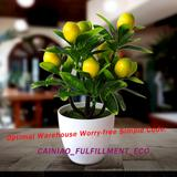 Faux citrons artificiels en pot,...