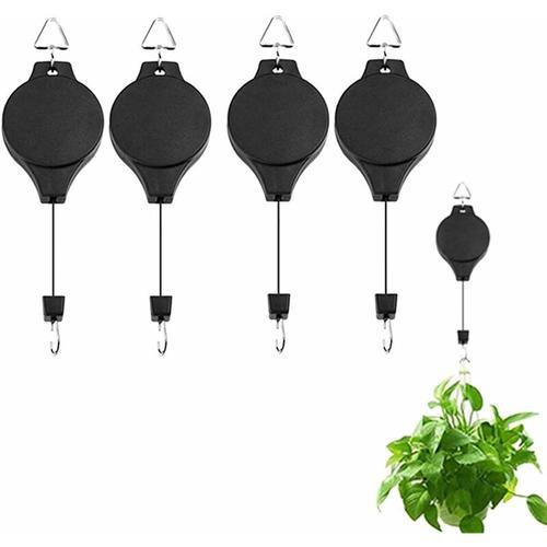 Pflanzenhaken, einziehbare hängende Pflanzenhalter, hängende Pflanzenkörbe, hängende Pflanzenrolle,