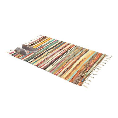 Rechteckiger Chindi-Teppich: 60 x 180 cm