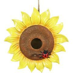 Exhart Sunflower Hanging Bird House