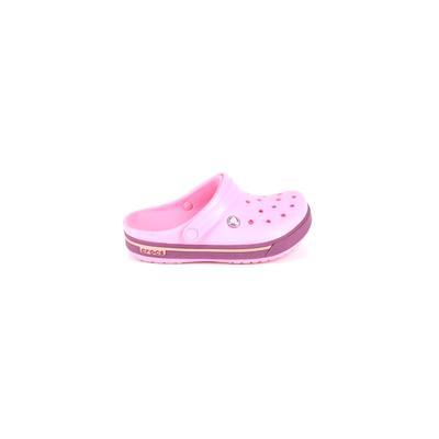 Crocs Clogs: Pink Solid Shoes - Size 3