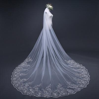 Voile de mariage blanc ivoire, L...