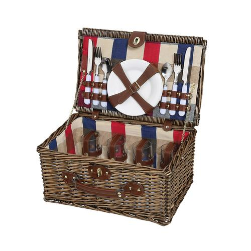 Cilio Picknickkorb für 4 Personen LENNO