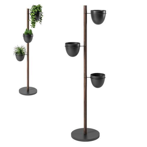 Umbra Pflanztopf-Halter Floristand mit 3 Pflanztöpfen Ø 15cm Blumenständer Blumentopfhalter
