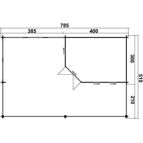 Gartenhaus aus Holz Panama-40 , ohne Imprägnierung , Imprägnierung ab Werk:ohne