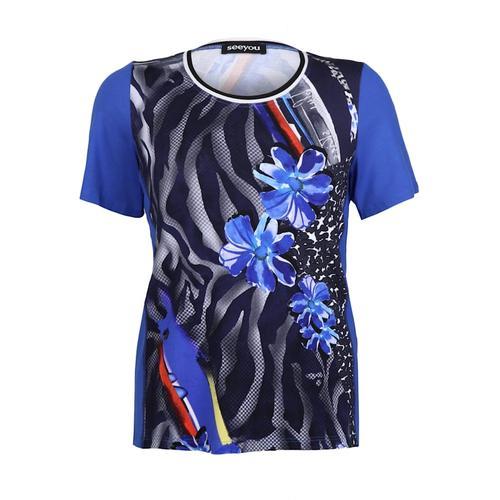 T-Shirt mit Blumenmuster seeyou royal