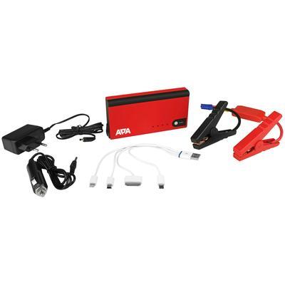 APA Starthilfegerät, 11000 mAh, 12 V rot Starthilfegerät Autobatterie-Ladegeräte Autozubehör Reifen
