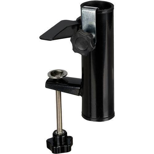 Sonnenschirmhalter für eckige Balkongeländer, Stockgröße 19-38 mm, Stahl Schirmhalter, H: 15,5 cm,