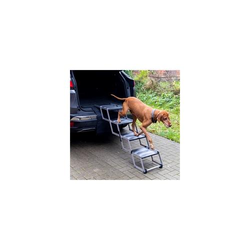 Hundetreppe 4-stufig, faltbar - Auto-Einstiegshilfe für Hunde