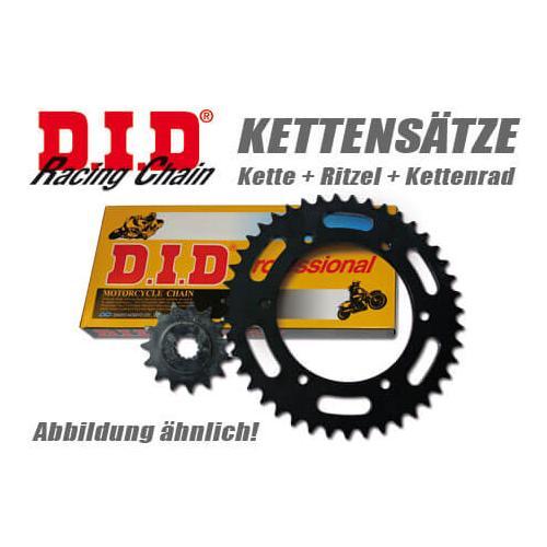 DID Kette und ESJOT Räder VX-Kettensatz Daelim VC 125 S 95-97 80km/h, schwarz