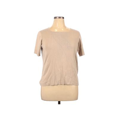 G Knitwear Pullover Sweater: Tan Solid Tops - Size 1X