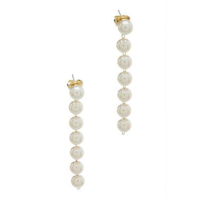 Boston Proper - Pearl Strand Earrings - White - One Size