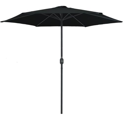 Sonnenschirm mit Aluminium-Mast 270 x 246 cm Schwarz