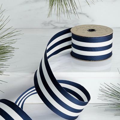 Stripe Navy Ribbon - Frontgate