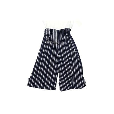 Knitworks Jumpsuit: Blue Stripes...