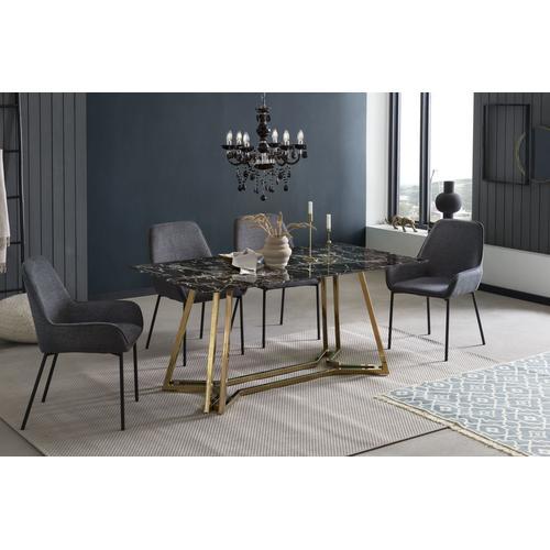 SalesFever Esstisch, in Marmoroptik schwarz Esstisch Esstische rechteckig Tische
