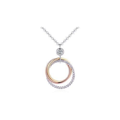 Halskette mit Anhänger in Silber mit böhmischen Kristallen