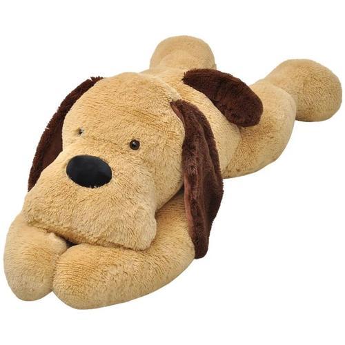 Hund Stofftier Plüsch Braun 120cm