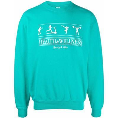Health And Wellness Sweatshirt - Blue - Sporty & Rich Sweats