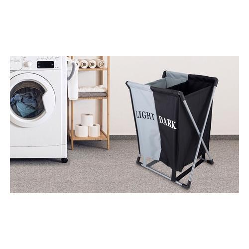 1x Faltbarer Wäschekorb mit zwei Fächern