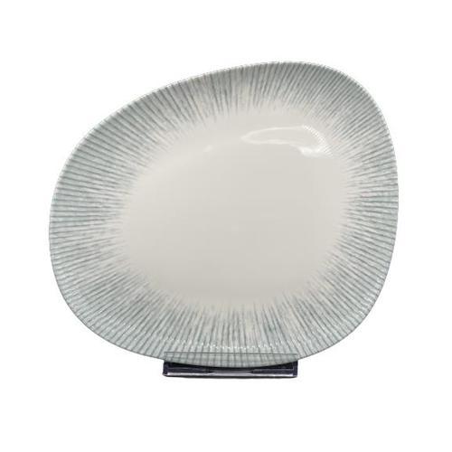 6x Servierplatte Geschirr Servierteller Teller Platte oval 330 x 275 mm Iris Vago