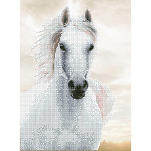"""""""""""DIAMOND DOTZ® Original Diamond Painting """"""""Imperial Stallion"""""""" 48 x 65 cm"""""""""""