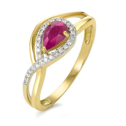 Ring 750 Rubin und Diamanten