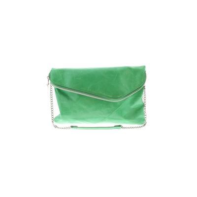 Hobo Bag The Original Leather Shoulder Bag: Green Solid Bags