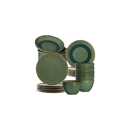Leonardo MATERA Geschirr Tafelservice grün 24-teilig