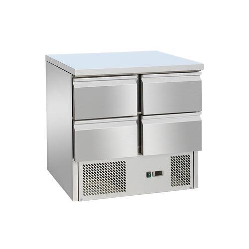 Saladette / Salattisch / Salatheke / Salatbar / Kühltisch mit 4 Schubladen 0,9 x 0,7 m - IDEAL