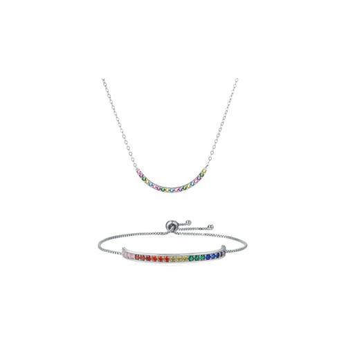 Halskette oder Armband mit Swarovski®-Kristallen: 1x Halskette + 1x Armband