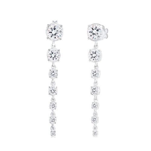 Ohrringe Edel Ohrhänger Kristalle 925 Silber Elli Premium Silber