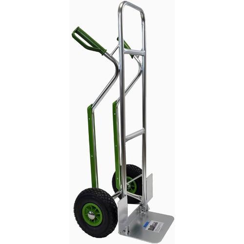 Baumarktplus - Aluminium Sackkarre mit Treppenrutsche 200 kg Stapelkarre Transportkarre Alu 6,7 kg