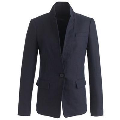 J. Crew Jackets & Coats   J. Crew Linen Blazer (Navy)   Color: Blue   Size: 0